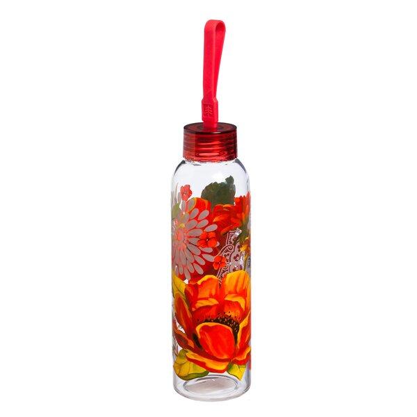 Beene Peony 18 oz. Glass Water Bottle by Ebern Designs