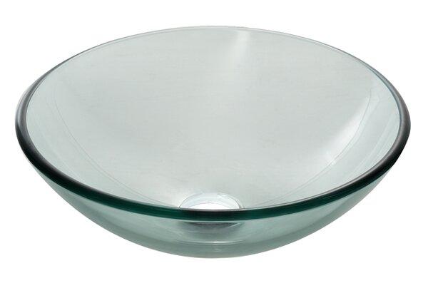 Glass Circular Vessel Bathroom Sink by Kraus