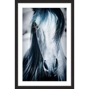 Blue Horse Framed Painting Print by Marmont Hill