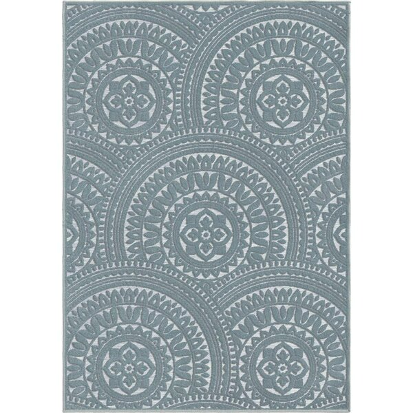 Senoia Blue Indoor/Outdoor Area Rug by Bungalow Rose