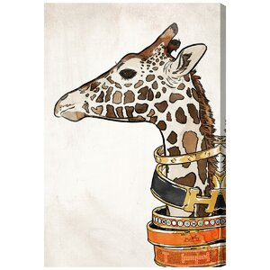 'Luxurious Giraffe' Graphic Art on Wrapped Canvas by Willa Arlo Interiors