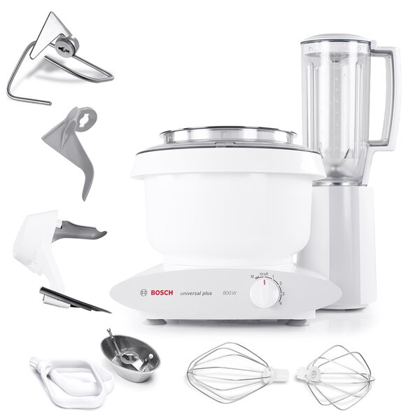 Universal Plus 6.5-Qt. 800 watt Stand Mixer with Cookie Paddles, Blender, & Bowl Scraper by Bosch