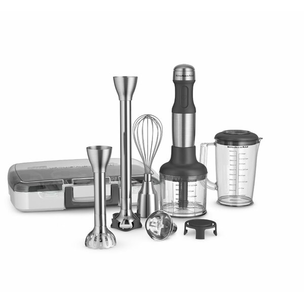 Stainless Steel 5-Speed Immersion Blender with 2 Blending Arms by KitchenAid