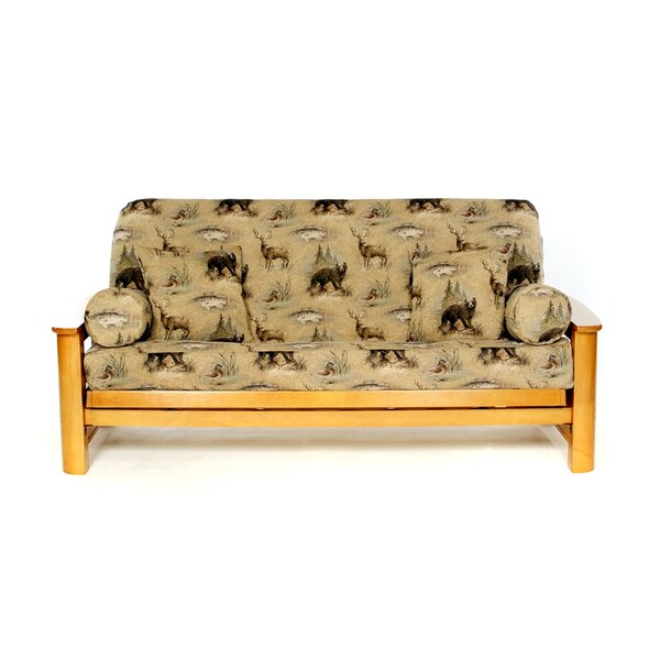 Woodlands Box Cushion Futon Slipcover by Lifestyle Covers