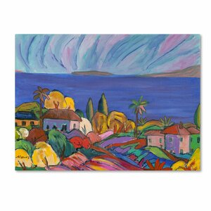 Kihei Shore by Manor Shadian Painting Print on Wrapped Canvas by Trademark Fine Art