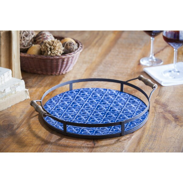 Spicer Round Metal Accent Tray by Fleur De Lis Living