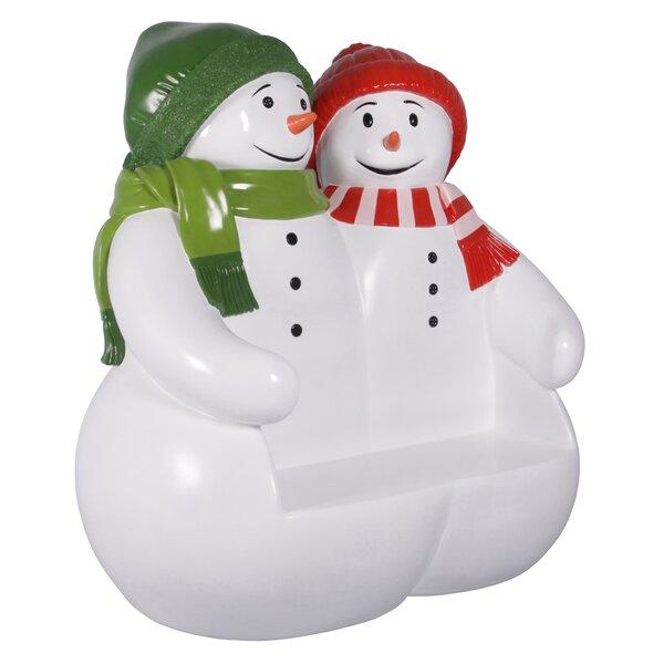 Powder Pals Snowman Fiberglass Garden Bench by Design Toscano