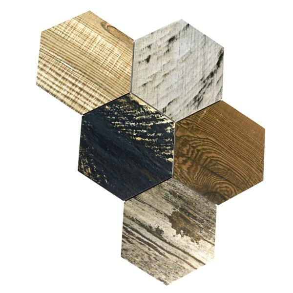 Garde Hex 8.5 x 9.75 Porcelain Wood Look Tile in Catan Shadow by EliteTile