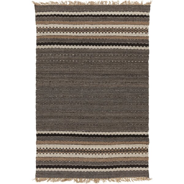 Auburn Gray/Brown Stripe Area Rug by Union Rustic