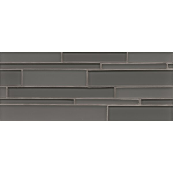 Harbor Glass Mosaic Random Interlocking Gloss/Matte Tile in Anchor by Grayson Martin