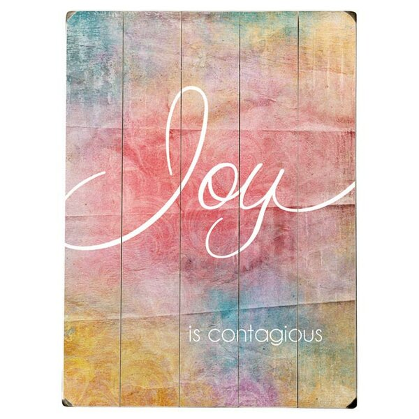 Joy is Contagious Textual Art Multi-Piece Image on Wood by Artehouse LLC