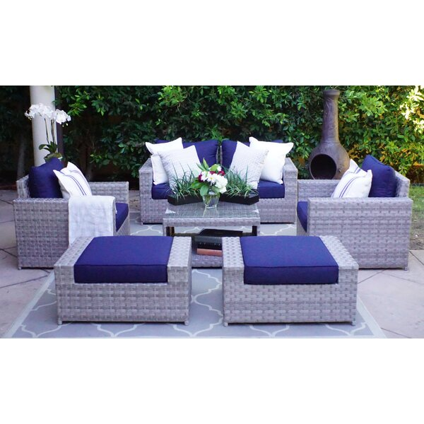 Kordell 7 Piece Rattan Sectional Set with Cushions by Sol 72 Outdoor