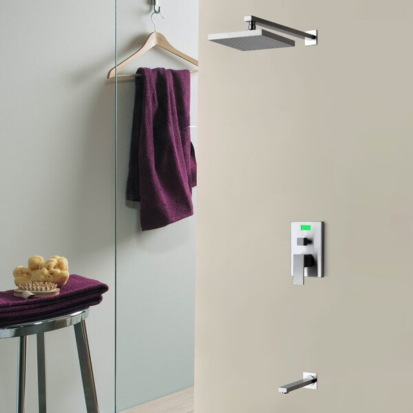 Digital Temperature Display Thermal Sequence ThermostaticLever Tub and Shower Faucet by Sumerain International Group