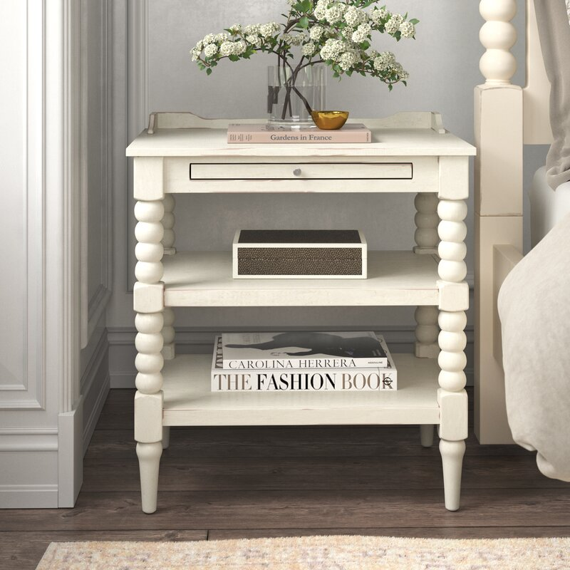 Baker 1 Drawer Nightstand - from Kelly Clarkson Home collection - come see more French country decor and furniture goodness on Hello Lovely! #frenchcountry #furniture #kellyclarksonhome #nightstands