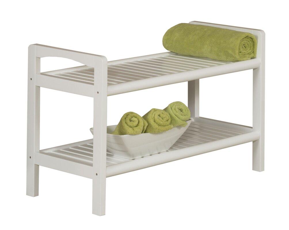 new ridge home goods abingdon solid wood storage bench reviews wayfair. Black Bedroom Furniture Sets. Home Design Ideas