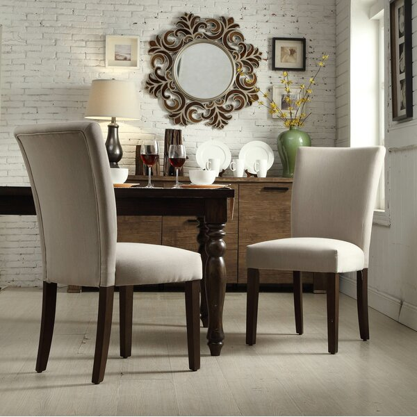 Doerr Upholstered Dining Chair (Set of 2) by Charlton Home Charlton Home