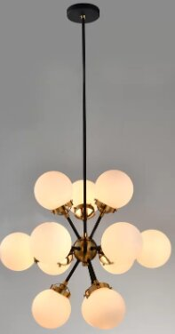 Santa Monica 12 - Light Sputnik Sphere Chandelier By Brayden Studio
