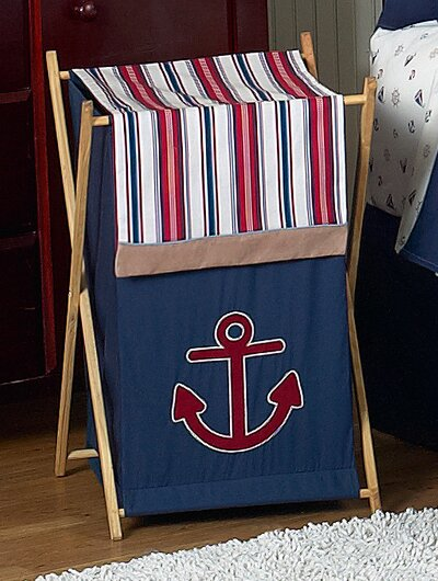 Nautical Nights Laundry Hamper by Sweet Jojo Designs
