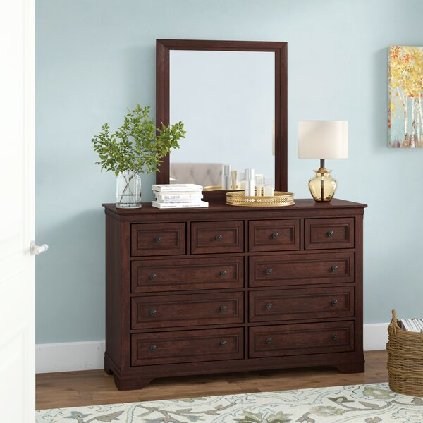 Rossie 8 Drawer Double Dresser with Mirror by Astoria Grand