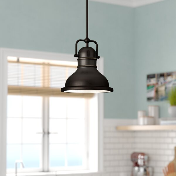 Maleah 1-Light Dome Pendant by Breakwater Bay