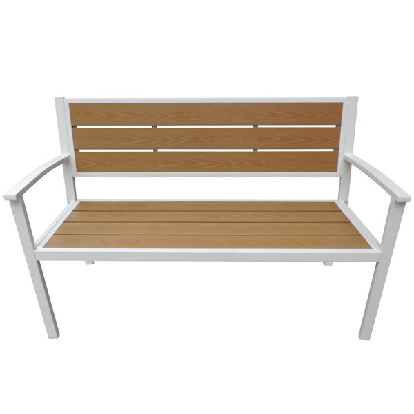 Elisa Aluminum and Plastic Park Bench by Rosecliff Heights Rosecliff Heights