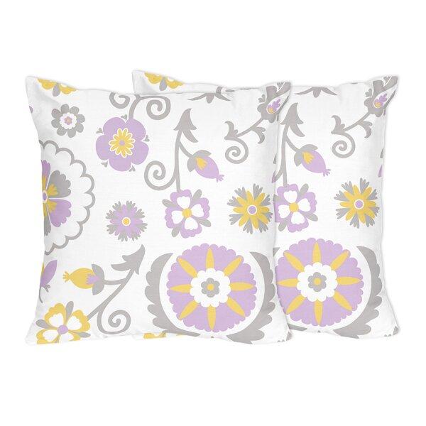 Suzanna Cotton Throw Pillow (Set of 2) by Sweet Jojo Designs