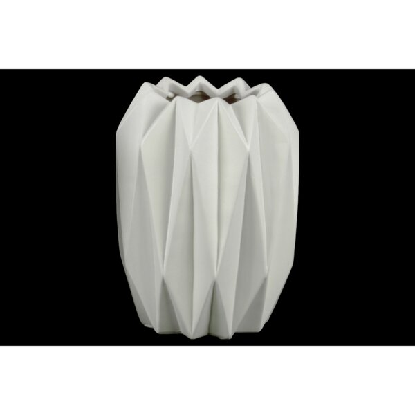 Font Geometric Patterned Ceramic Table Vase by Wrought Studio