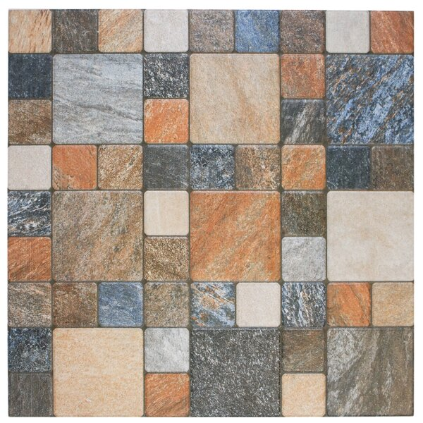 12.25 x 12.25 Porcelain Mosaic Tile in Por Rustico by EliteTile