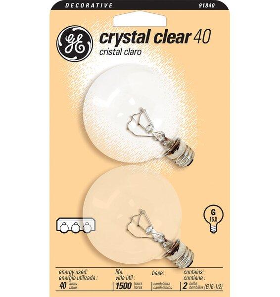 120-Volt (2500K) Incandescent Light Bulb (Pack of 2) by GE