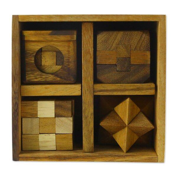 Puzzles Wood 5 Piece Sculpture Set by Loon Peak