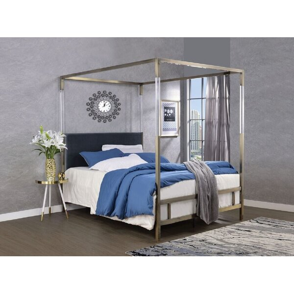 Sherwin Queen Upholstered Canopy Bed by Everly Quinn