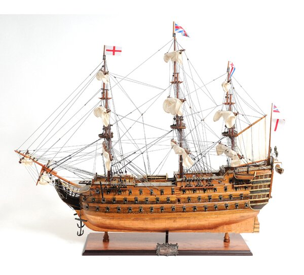 HMS Victory Bottom Model Ship by Old Modern Handicrafts