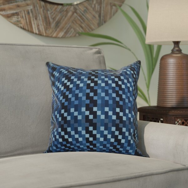 Liam Mad for Plaid Geometric Throw Pillow by Corrigan Studio
