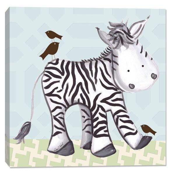 Jungle Zach Zebra Canvas Art by Doodlefish