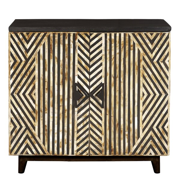 Casleton Striped Bone Inlay 2 Door Accent Cabinet by Bloomsbury Market Bloomsbury Market