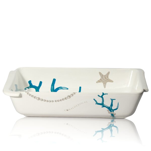 Vivere Coral Rectangular Baking Dish by Intrada Italy