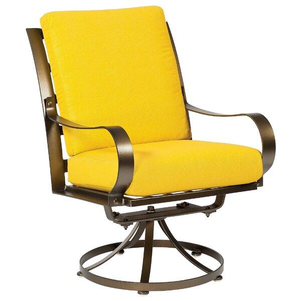 Cascade Swivel Patio Dining Chair with Cushion by Woodard