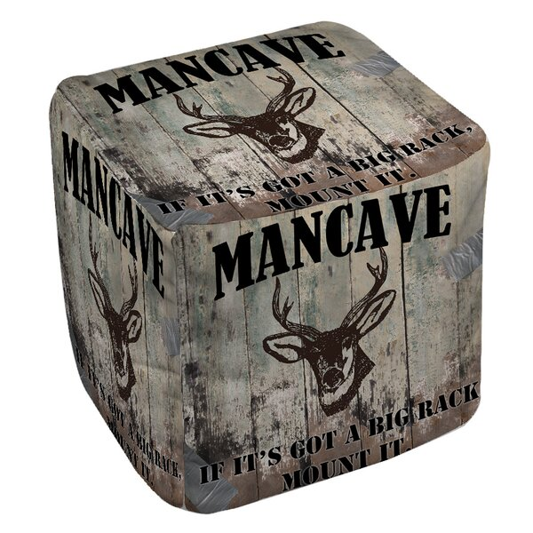 Mancave Pouf by Manual Woodworkers & Weavers