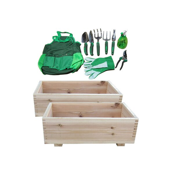 Steven 11 Piece 10 x 16 Cedar Planter Box Set by Freeport Park