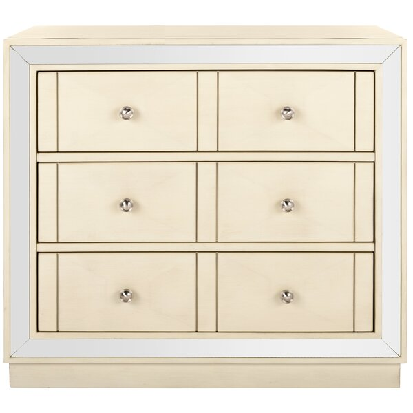 Scally 3 Drawer Mirrored Drawer Chest by Everly Quinn Everly Quinn