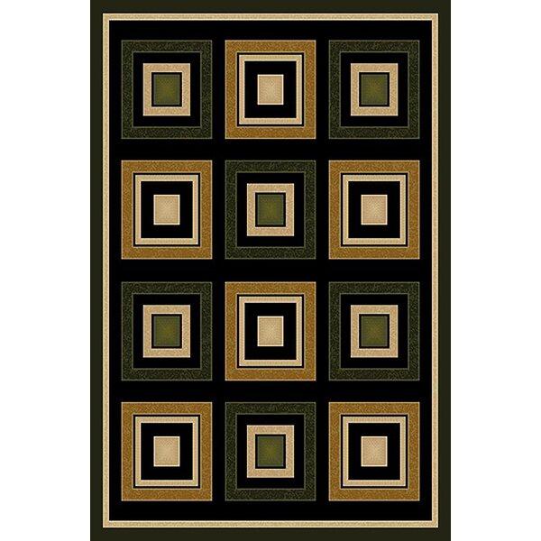 Cosper Green/Black Area Rug by Ebern Designs