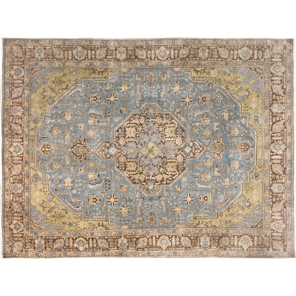 Belfield Hand-Knotted Rectangle Wool Blue/Brown Indoor Area Rug by Bloomsbury Market