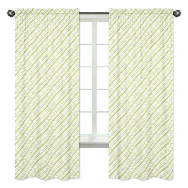 Leap Frog Plaid Semi-Opaque Rod Pocket Curtain Panels (Set of 2) by Sweet Jojo Designs