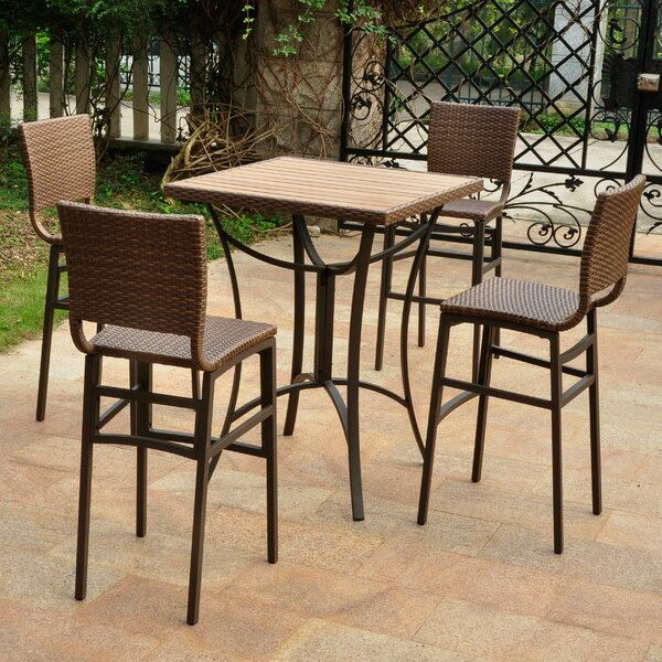 Katzer 5 Piece Bar Height Dining Set by Brayden Studio