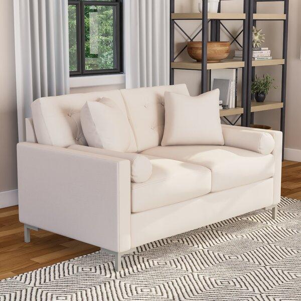 Harper Loveseat with Metal Legs by Wayfair Custom Upholstery™