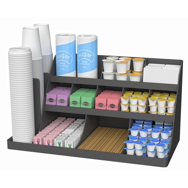 14 Compartment 3 Tier Breakroom Organizer by Mind Reader