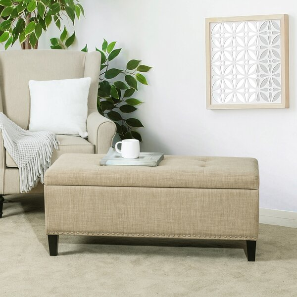 Hambree Upholstered Flip Top Storage Bench by Winston Porter Winston Porter
