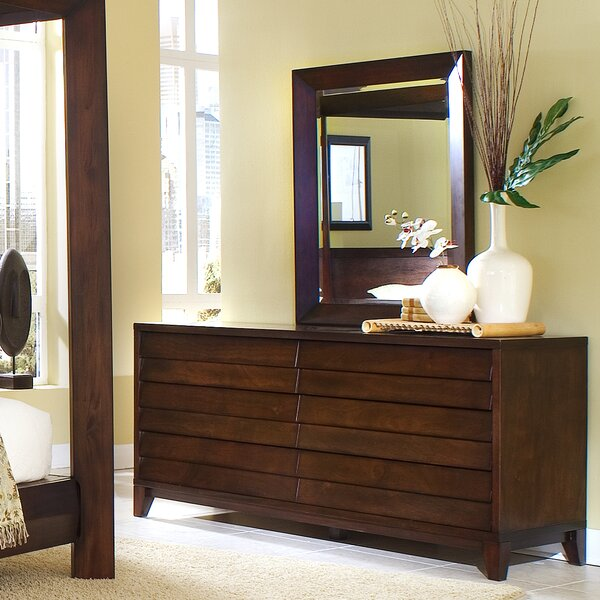 Island 6 Drawer Dresser with Mirror by Home Image