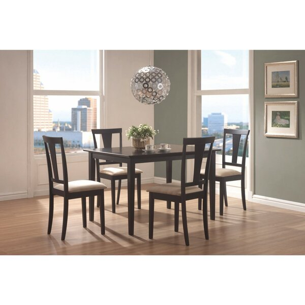 Jeon 5 Piece Dining Set by Winston Porter