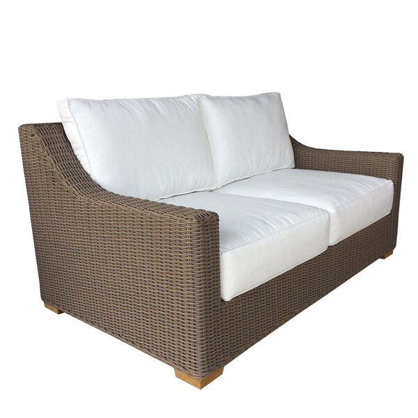 Hobson Loveseat with Sunbrella Cushions by Bayou Breeze